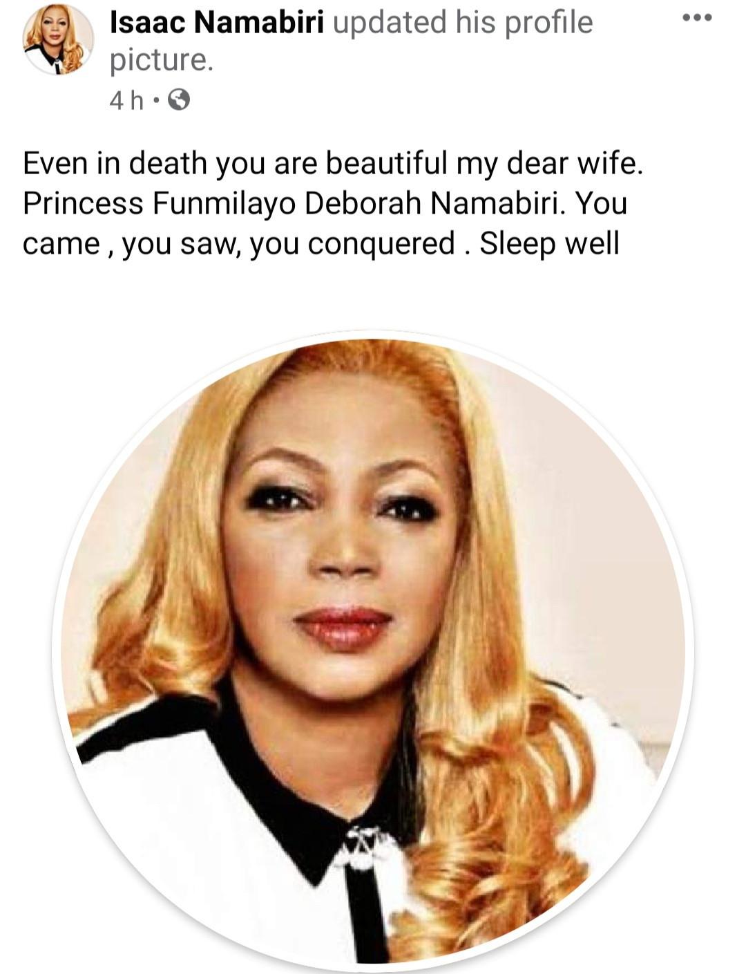 Hair entrepreneur,? Funmi Namabiri pouplarly known as Funmi Hair, dies