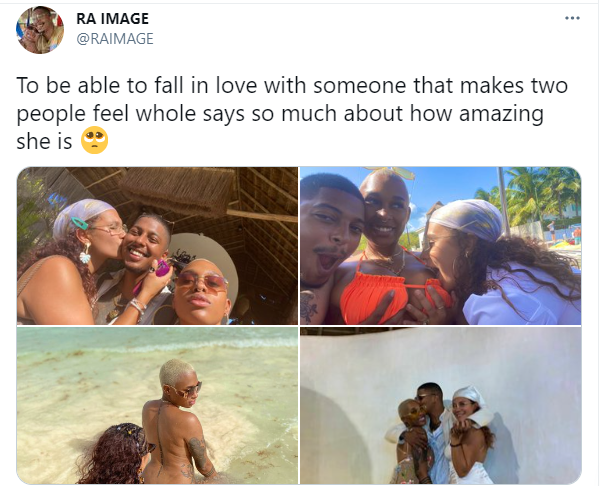 Man in throuple relationship shares loved-up photos with his two girlfriends