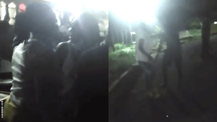 Moment Ghanaian police officers arrested lesbians who were holding a wedding (video)