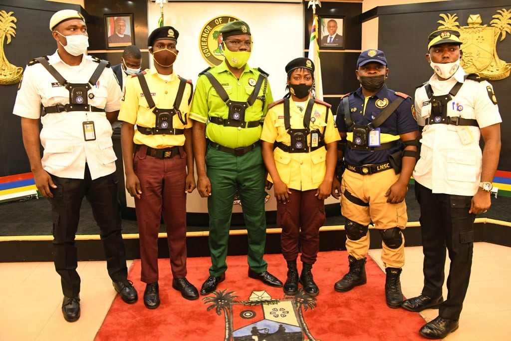 Lagos state governor Babajide Sanwo-Olu launches training programe for law enforcement officers to use body camera (photos)