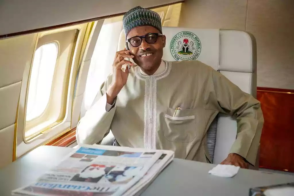 See photo of President Buhari jogging on the streets of London this morning