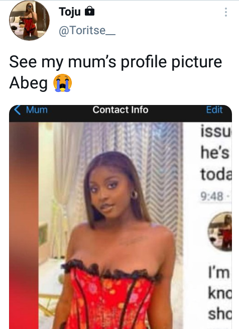 Nigerian lady who claimed she was issued a quit notice by landlord over indecent dressing says her mother likes her sexy lingerie photo
