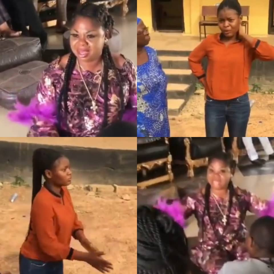 OOU student tenders an unreserved apology to a top food seller in Ago-Iwoye who she accused on social media of cooking with water used to bath corpses (videos)