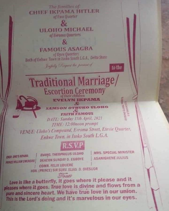Delta state man set to wed two women on same day...see their pre-wedding photo