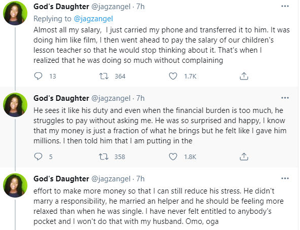 Nigerian lady reveals what her husband did after she gave him almost all her salary