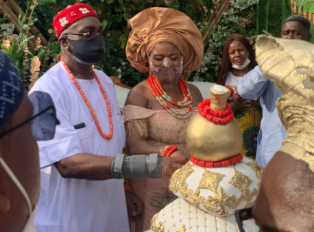 Photos from the traditional and court wedding of Senator Ben Obi and his partner, Chiaka