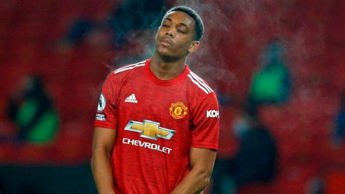 Manchester United confirm star player Anthony Martial out for rest of season with knee injury
