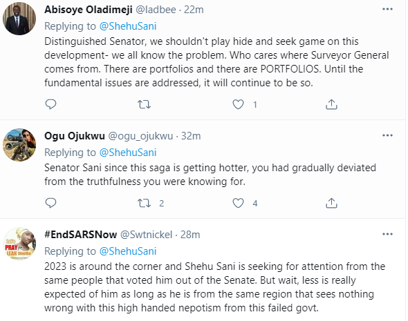 Nigerians react after Senator Shehu Sani takes a
