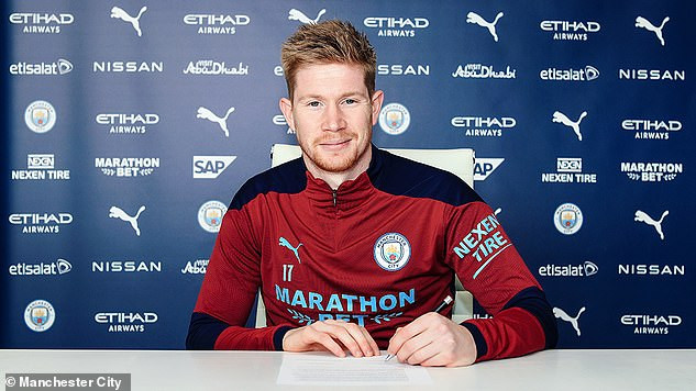 Manchester City playmaker, Kevin De Bruyne signs new four-year contract worth more than ?16million per season