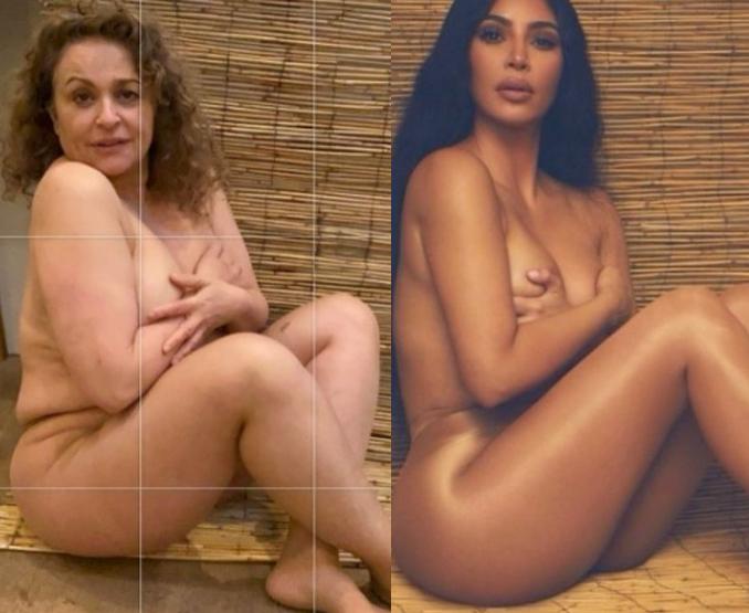 Loose Women panellist, Nadia Sawalha, 56, strips to channel Kim Kardashian