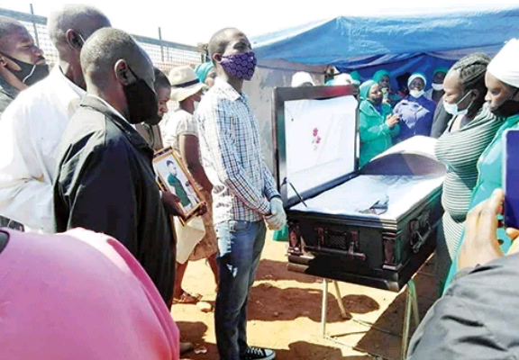 Family of man beaten to death holds his funeral service at his alleged killer