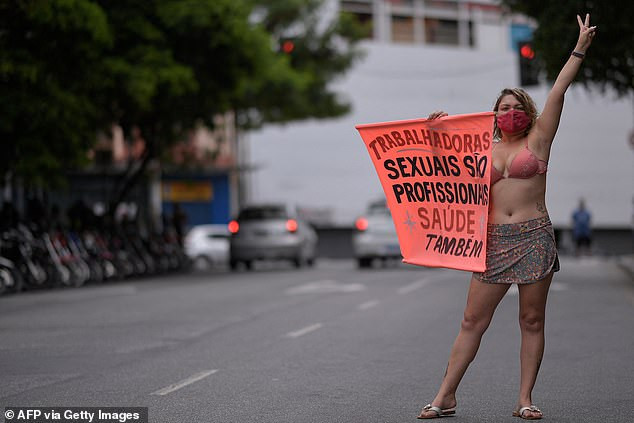 Brazilian sex workers go on strike for a week to demand they are among