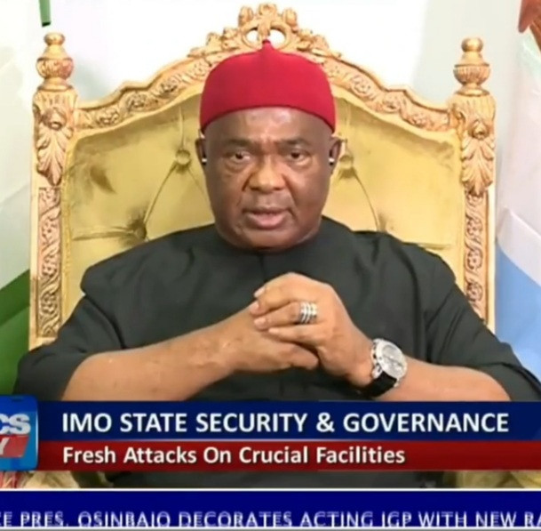 """""""The people that attacked Imo are not IPOB. I have done my investigation"""" Imo State Governor, Hope Uzodinma says (video)"""