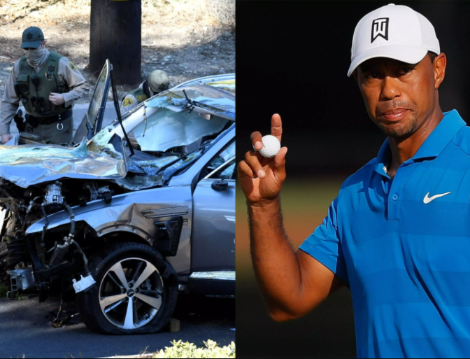 Tiger Woods was driving almost twice the speed limit before car crash, L.A. sheriff says