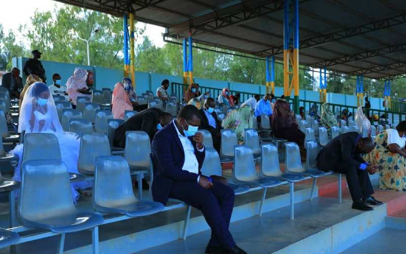 Newlywed Rwandan couple spends first night in a stadium after being arrested for breaking Covid-19 rules