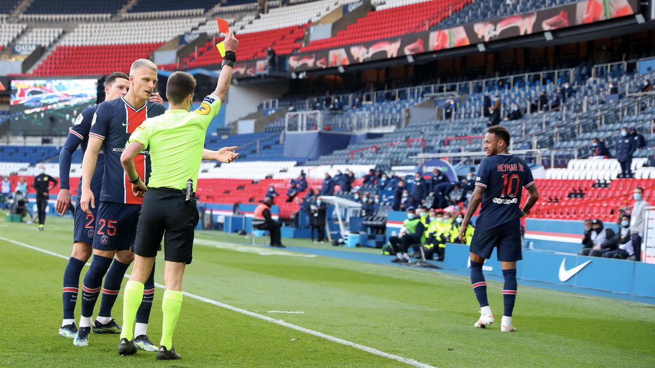 Paris Saint-Germain striker, Neymar banned for two Ligue 1 games after red card