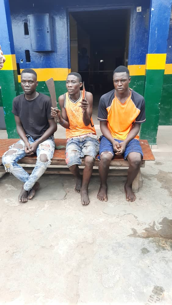 Traffic robbers apprehended in Lagos (photos)