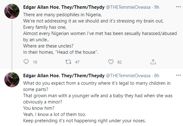 There are many pedophiles in Nigeria. Every family has one -  Singer Temmie Ovwasa