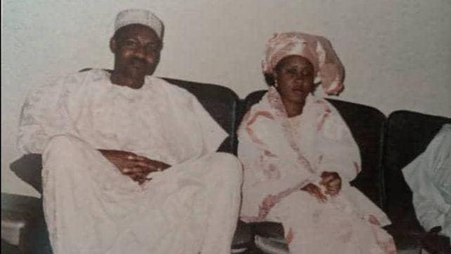 Throwback photo of President Buhari and his wife Aisha