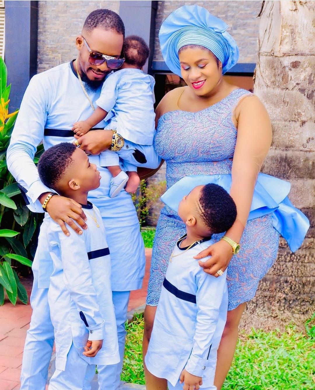 Junior Pope Odonwodo and wife dedicate their third son in church (photos)
