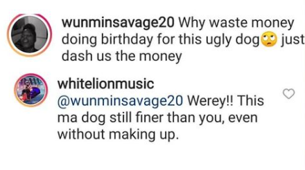 My dog looks better than you, even without making up  - Musician White Lion slams Nigerian porn star, Wunmi Savage for calling his dog