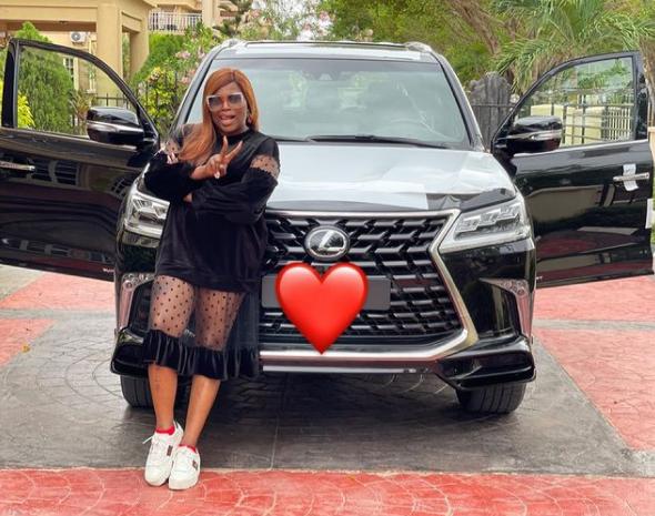 Actress, Funke Akindele Bello acquires Lexus SUV (photo/video)