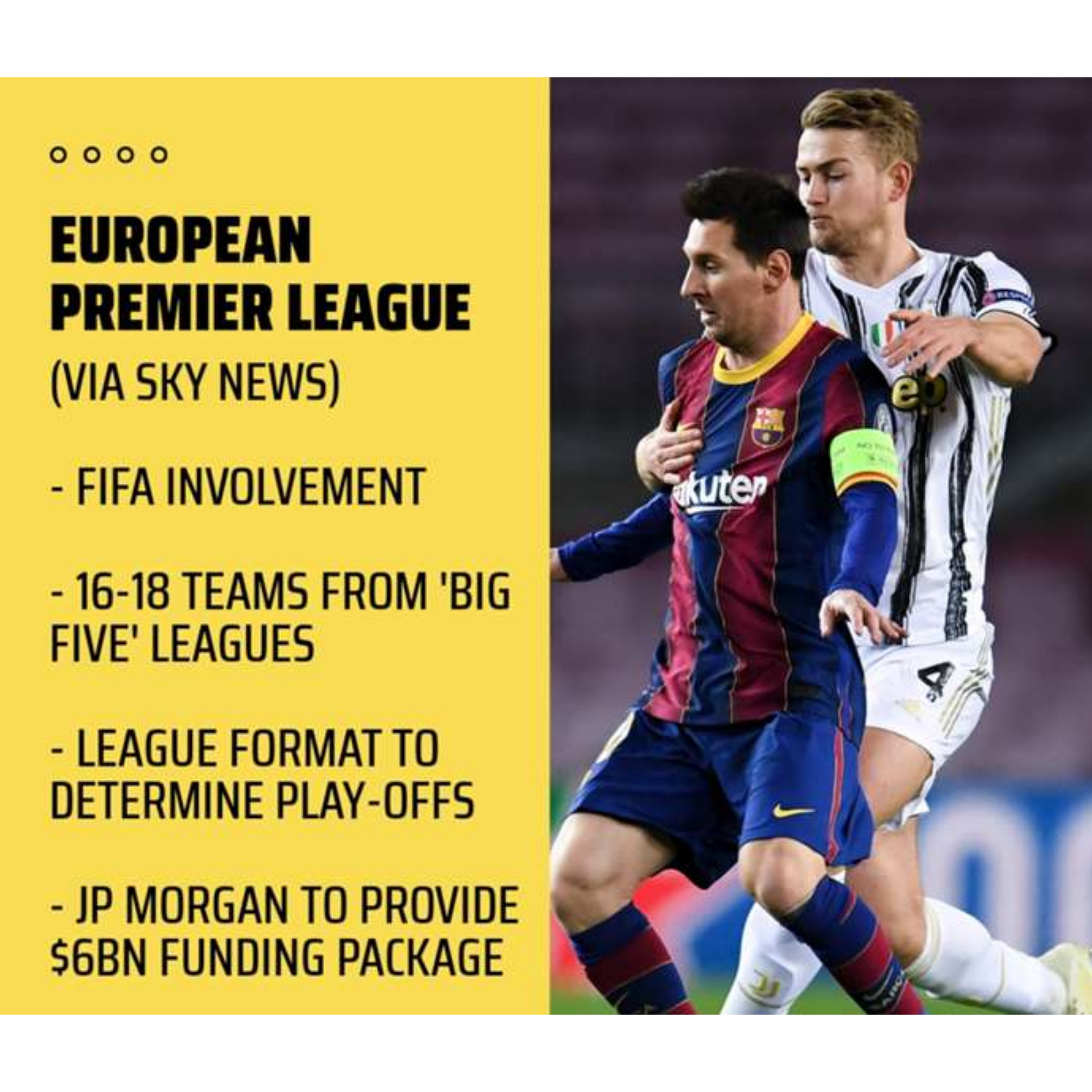 UEFA and Premier League issue scathing statements after 12 top clubs announce plans to breakaway and set up their own European Super League