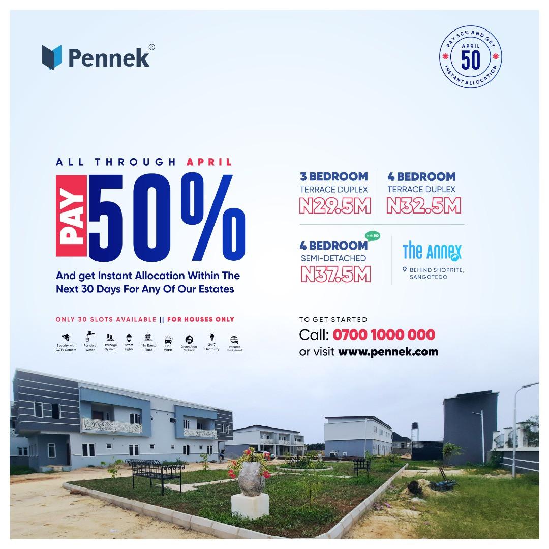 Own this duplex in Lekki 2 with 50% deposit