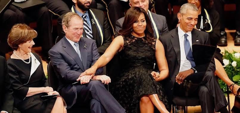 George Bush says he was