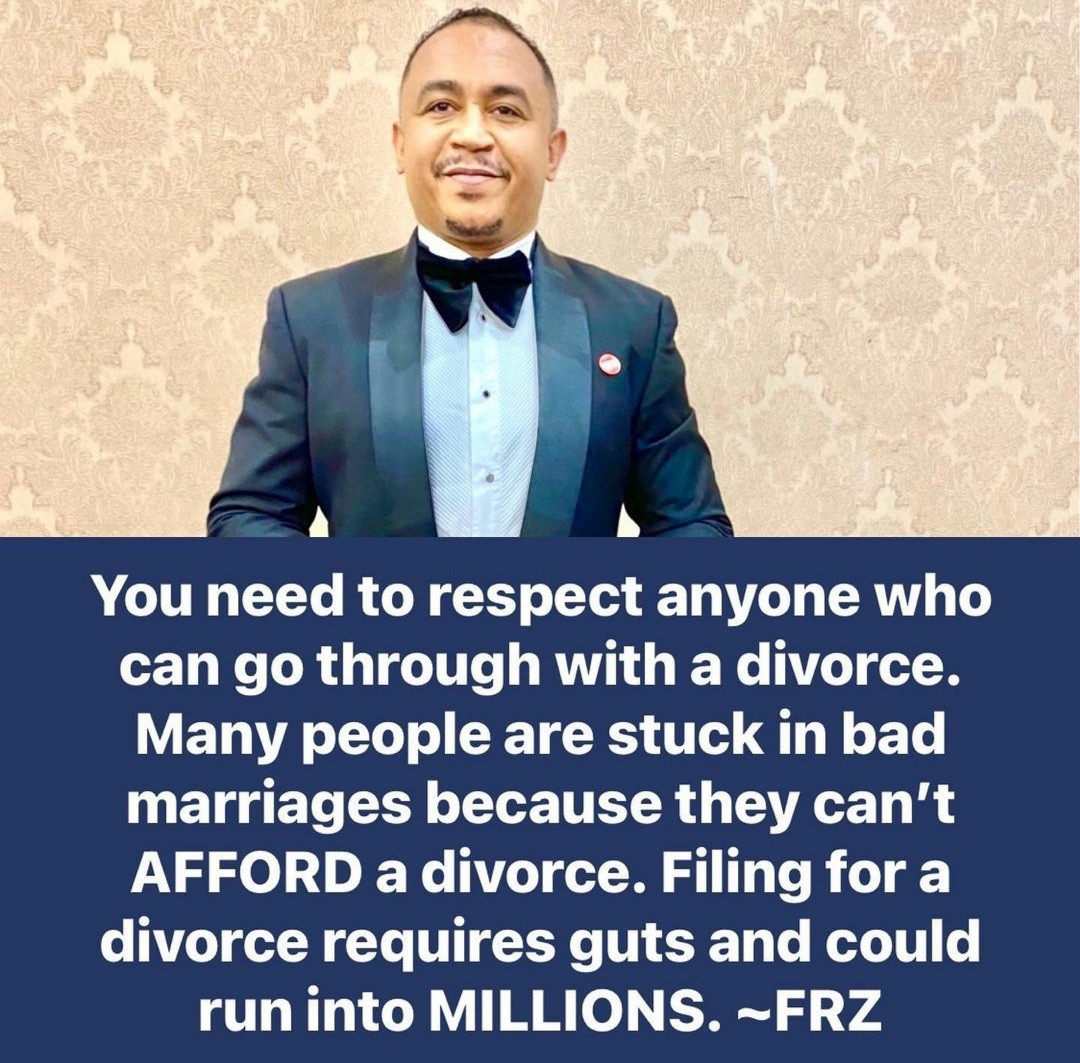 """""""Respect anyone who can go through with a divorce"""" Daddy Freeze says as he lists reasons to file for a divorce"""