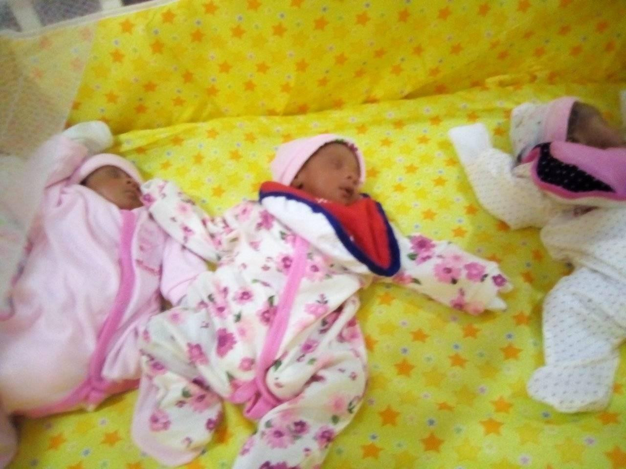 "Nigerian woman gives birth to triplets after 11 years of marriage and ""6 miscarriages"""