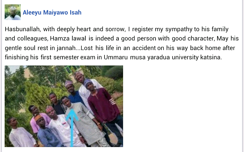 Three Katsina varsity students killed in ghastly motor accident on their way home after exams