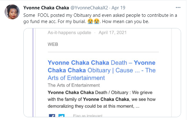 'I am alive'' - Singer Yvonne Chaka Chaka reacts after a GoFundMe page was created for her ''burial ''. 8