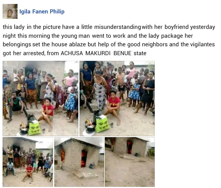 Woman allegedly sets her boyfriend