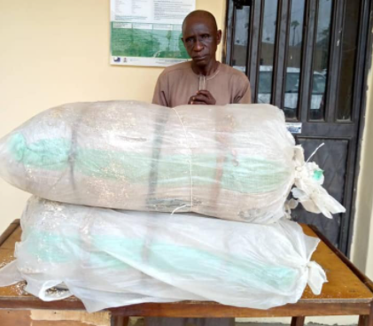 Wanted Abia major drug supplier arrested with over 100kg Cocaine and Cannabis (photos)