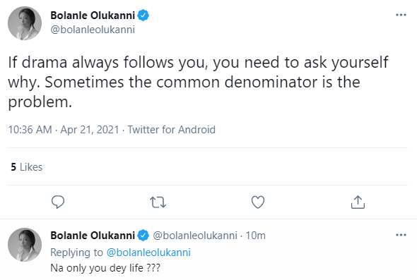 If drama always follows you, you need to ask yourself why - Media personality Bolanle Olukanni