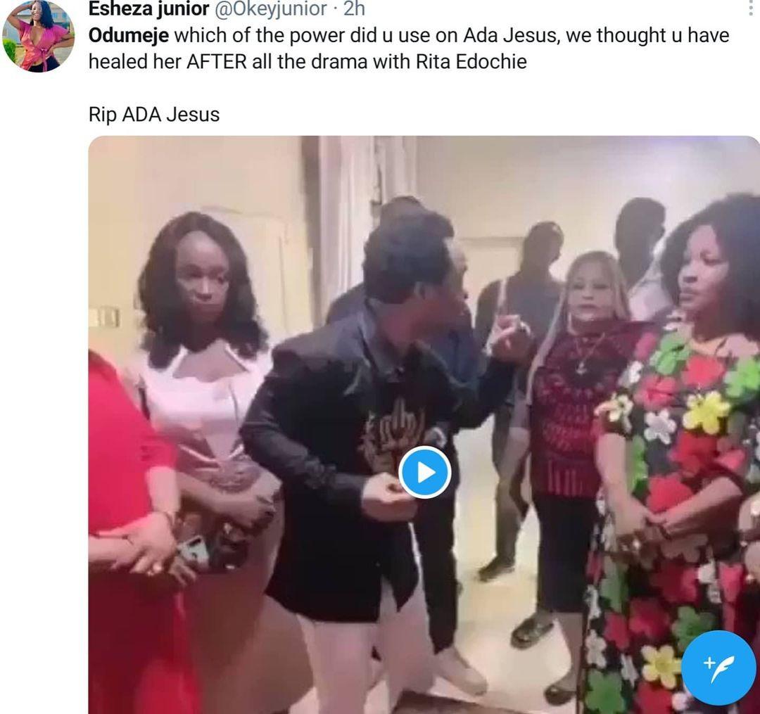 Ada Jesus, Prophet Odumeje and Rita Edochie trend on Twitter following the death of the Instagram comedian