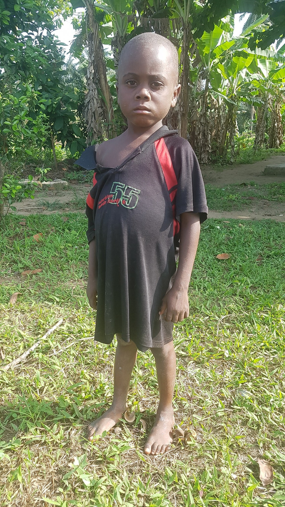 """""""My mother hit me with machetes and locked me up in the toilet"""" - 5-year-old boy accused of witchcraft in Akwa Ibom narrates his ordeal"""