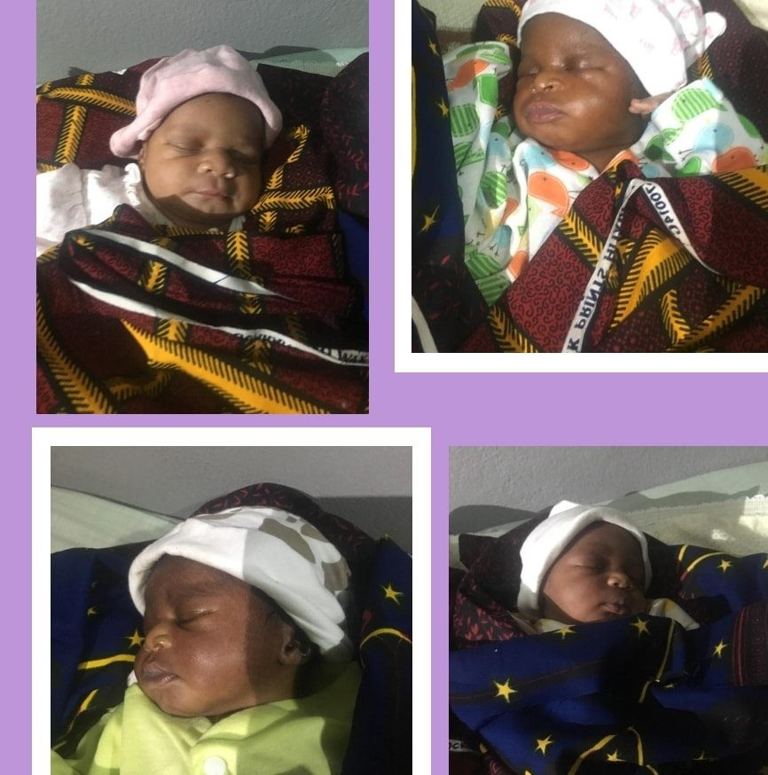 Nigerian woman gives birth to quadruplets after 16 years of marriage