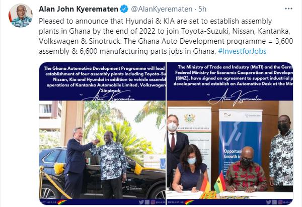 Hyundai and Kia to establish assembly plants in Ghana