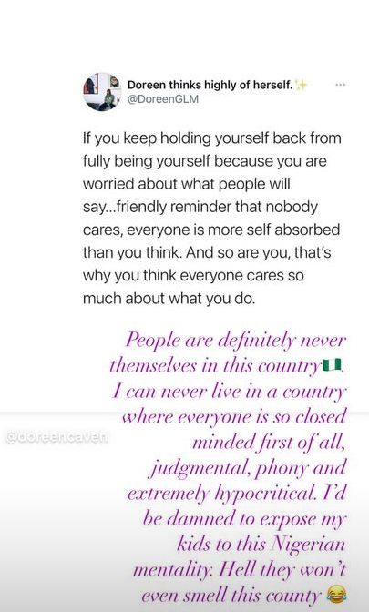 """I can never live in a country where everyone is judgmental, phony and extremely hypocritical"" - International model, Ify Jones says she won"