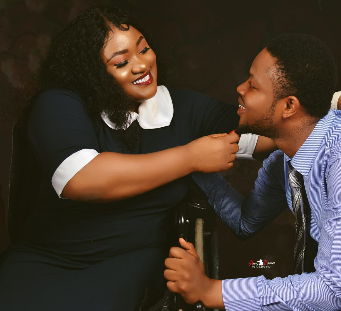 """""""I got me the finest, tallest, kindest man"""" - Physically challenged Nigerian pharmacist says as she sets to wed"""