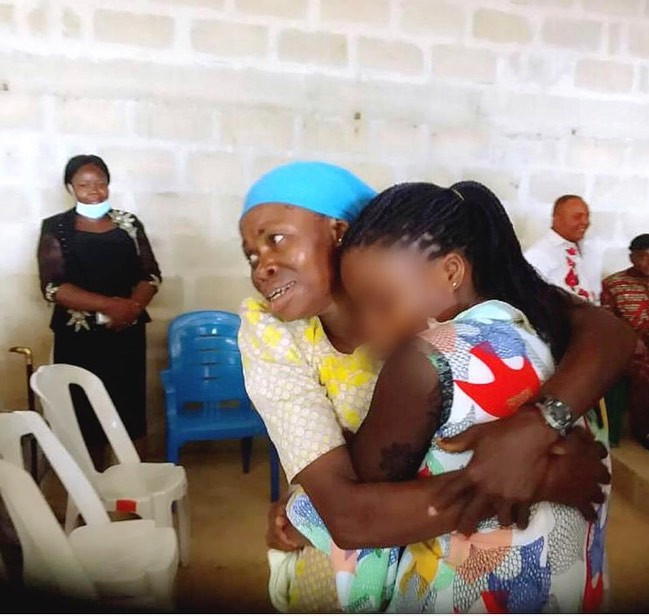 Update: Human trafficking victim reunites with her mother in Akwa Ibom after 20 years (photos)