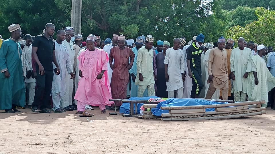 Photos from the funeral of DPO, two of the eight police officers killed by bandits in Kebbi State