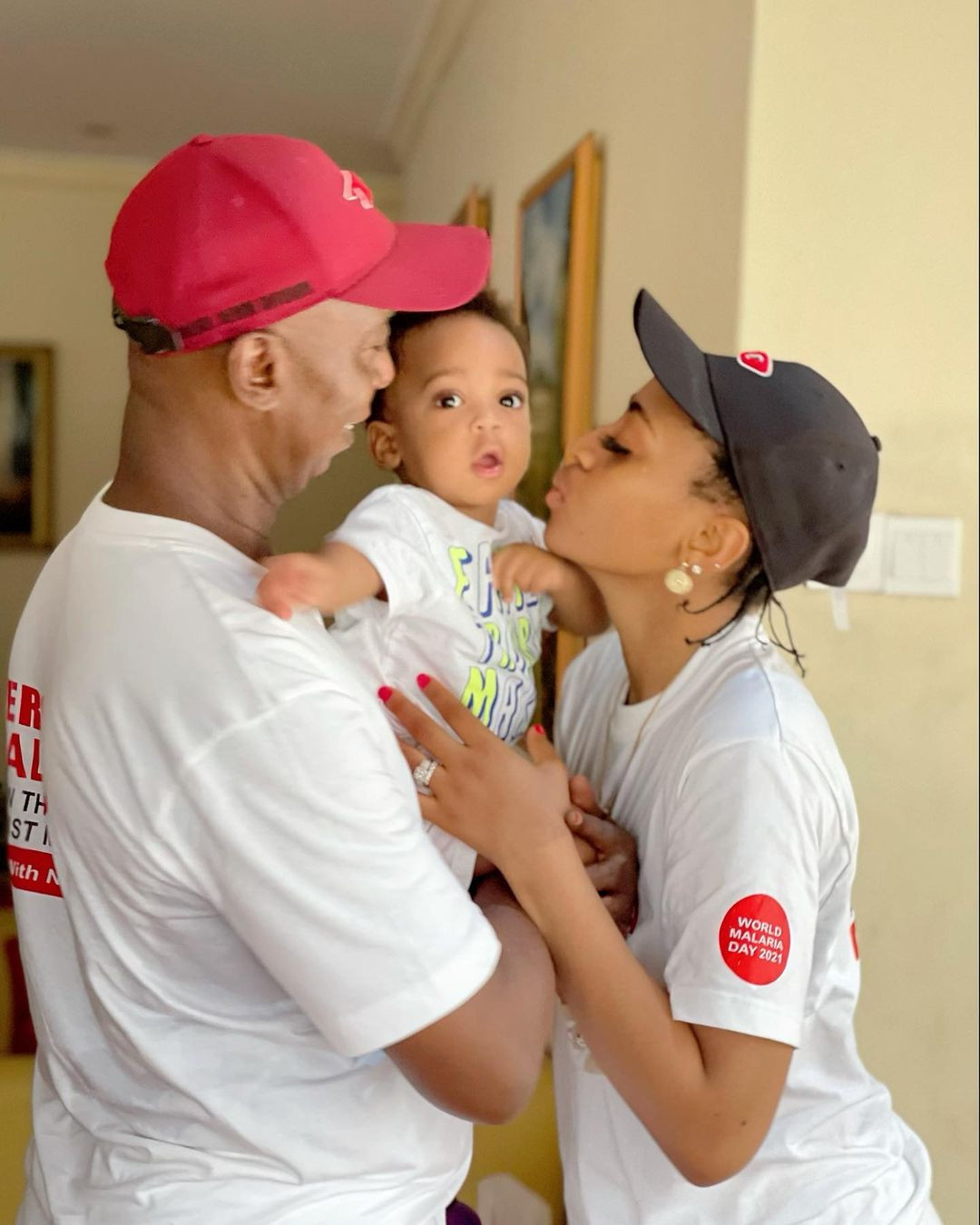 Lovely photos of Regina Daniels with her husband, Ned Nwoko and their son, Munir
