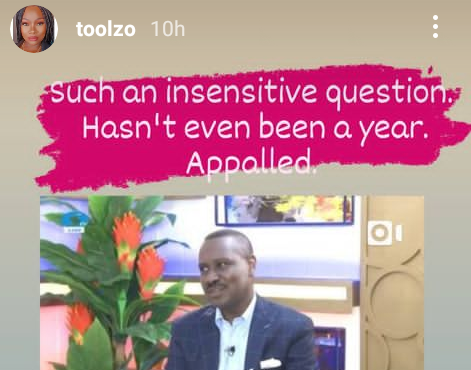 """Such an insensitive question"" - OAP Toolz reacts to Pastor Ituah Ighodalo"