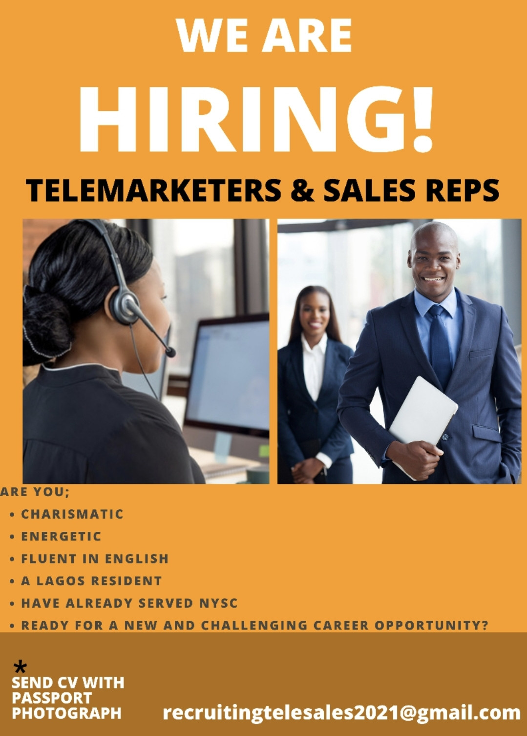 We are Hiring! Telemarketers & Sales Reps