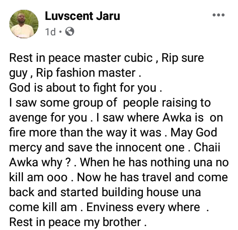 """Awka has done the worst ever"" - Friends mourn as another young man is shot dead by suspected cultists in Anambra"