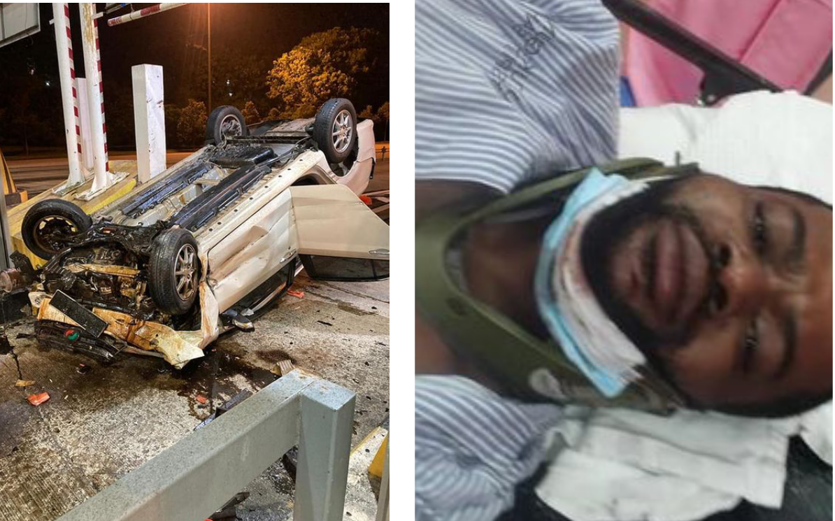 """I am alive"" - Nigerian man narrowly escapes death in ghastly auto crash"