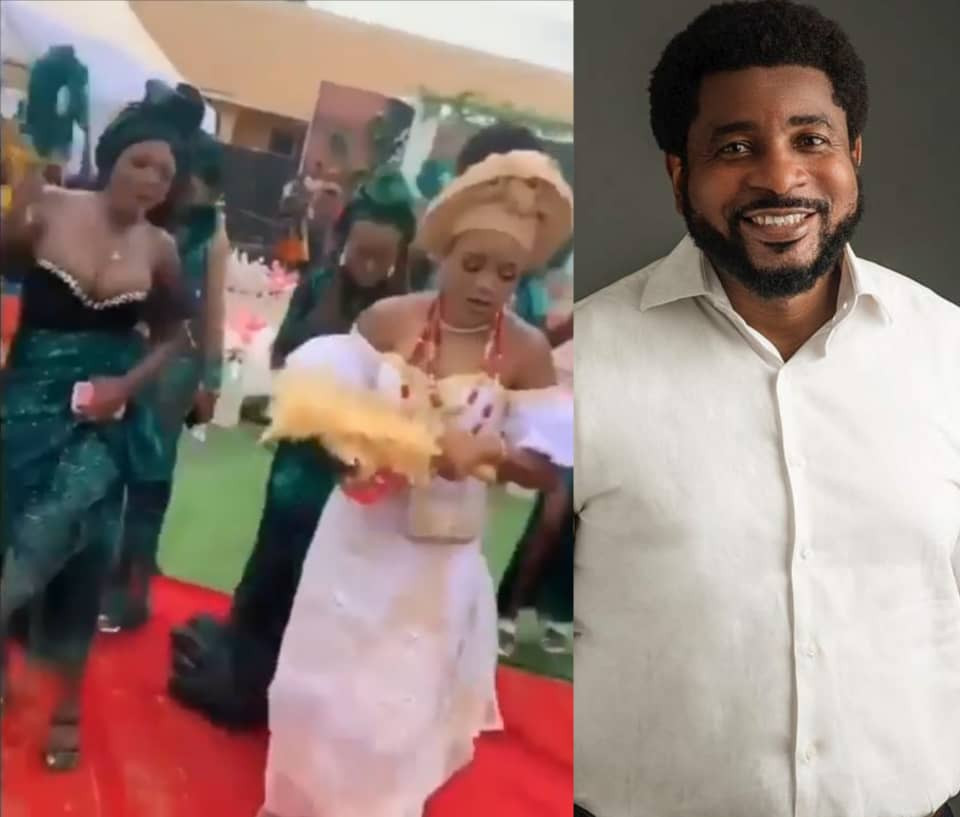 Clergyman, Kingsley Okonkwo, tackles bridesmaid who took center stage at her friend